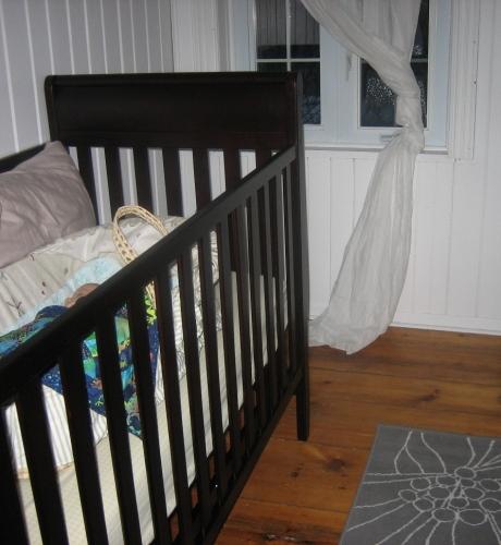 Jack in basket in crib